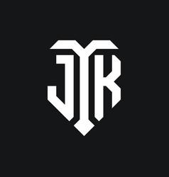 Jk logo monogram design template vector