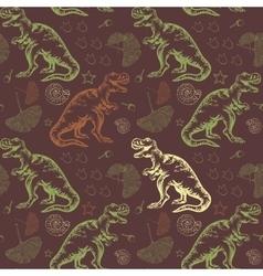 Jurassic Tyrannosaurus rex Seamless vector