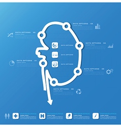 kidney shape business and medical infographic vector image