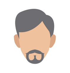 Man character face profile cartoon icon vector