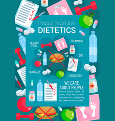 medical poster for dietetics medicine vector image