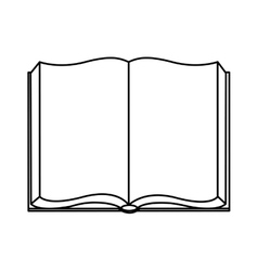 open Book isolated icon design vector image