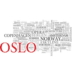 Oslo word cloud concept vector