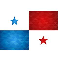 panama country flag panamanian nation vector image