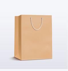 Paper bag brown shopping bag vector