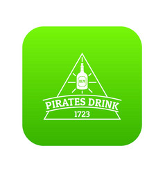pirate drink icon green vector image