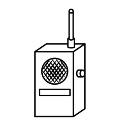 Radio transmitter device icon vector image
