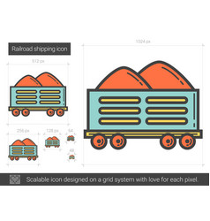 Railroad shipping line icon vector