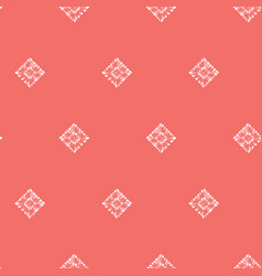 Red shibori simple diamond square polka dot vector