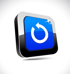 Refresh 3d square button vector