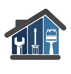 Repairs in house vector