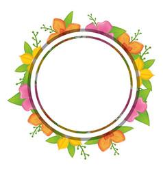 rustic floral design vector image