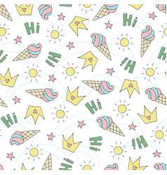 Seamless summer pattern vector