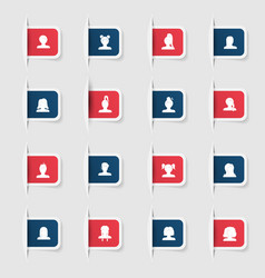 Set a collection unique paper stickers icon man vector
