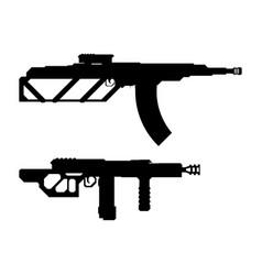 set weapons concept machine gun one vector image