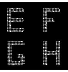 Silver letter set vector image