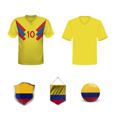 soccer jersey or football kit template for vector image
