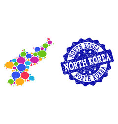 Social network map of north korea with speech vector
