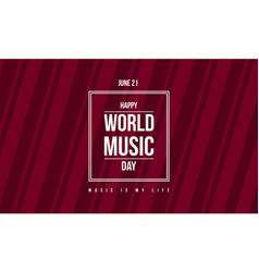 style banner world music day celebration vector image