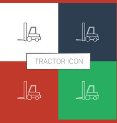 Tractor icon white background vector