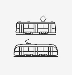 Tram icon city public transport sign or symbol vector