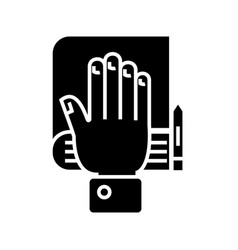 Truth concept - hand bible scales icon vector