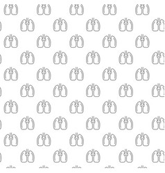unique lungs seamless pattern with various icons vector image