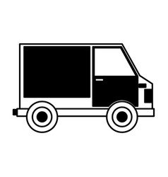 van delivery service icon vector image