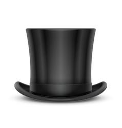 Vintage classic top hat vector