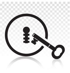 Vintage door keyhole security access flat icon vector