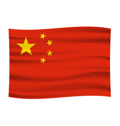wave china flag official colors and proportion vector image