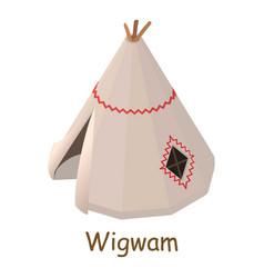 Wigwam icon isometric 3d style vector