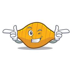 Wink conchiglie pasta character cartoon vector