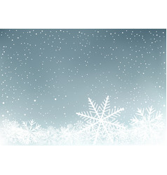 winter sky background with snow vector image