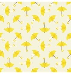 Yellow umbrella seamless pattern vector
