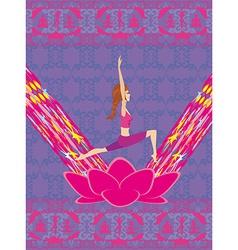 Yoga lifestyle card vector