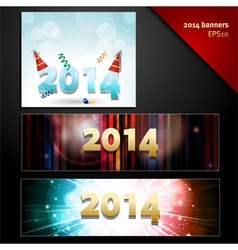 2014 new year banners vector image