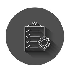 document icon project management flat with long vector image vector image
