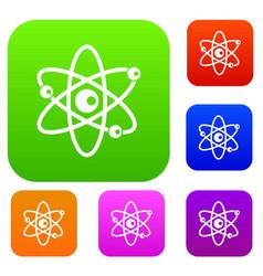 molecules of atom set collection vector image vector image