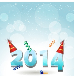 2014 party hat background vector image vector image