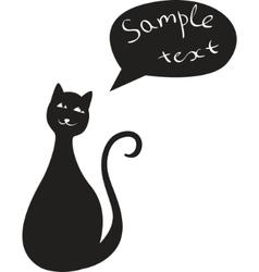 black cat dreaming vector image