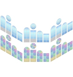 Collection of windows in isometric view vector image