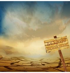 Desert landscape background vector