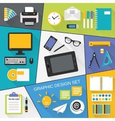 Graphic design flat set vector image vector image