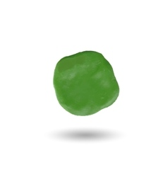 piece of green clayround spot vector image vector image