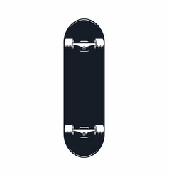skateboard vintage skateboard icon isolated on vector image