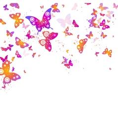 background of flying butterflies vector image vector image