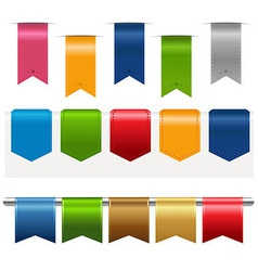 Big Ribbons Set vector image vector image