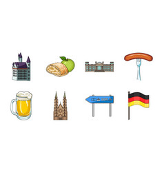 country germany icons in set collection for design vector image