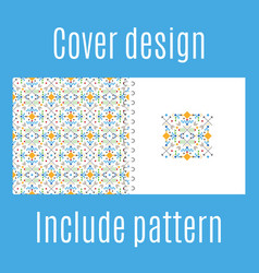 cover design with tribal geometric pattern vector image
